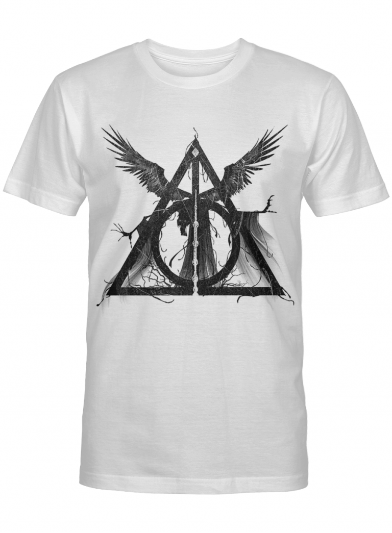 Harry Potter Fan Gift Occult Symbols Wings Magical Dark Graphic T-shirt Unisex Tshirt