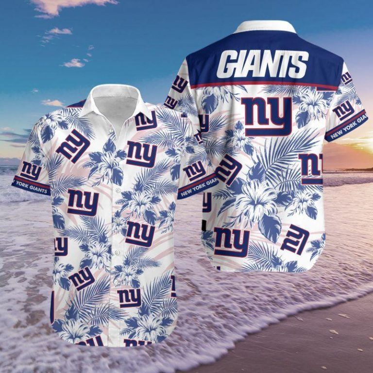 New York Giants Summer Outfit Hawaii Aloha Hawaiian shirts Men Women Beach shorts Unisex Tshirt