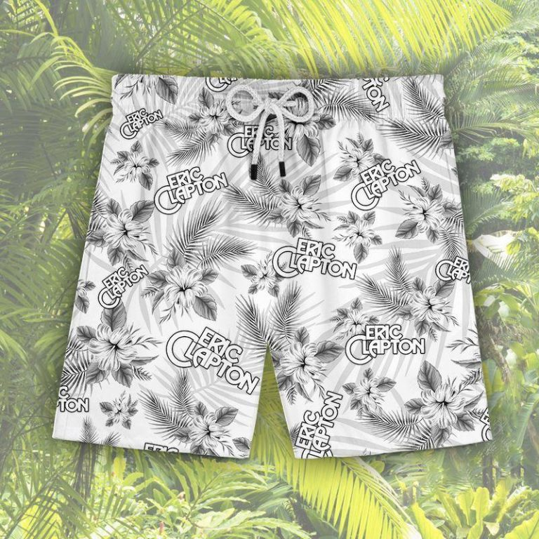 Eric Clapton Summer Outfit Hawaii Aloha Hawaiian shirts Men Women Beach shorts LongSleeve Tshirt