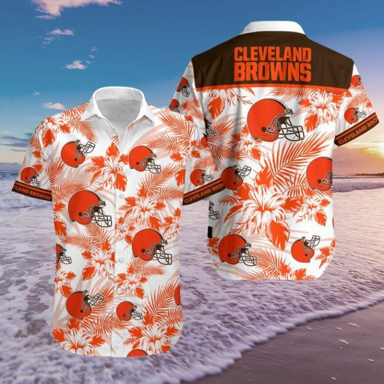 Cleveland Browns Summer Outfit Hawaii Aloha Hawaiian shirts Men Women Beach shorts Unisex Tshirt