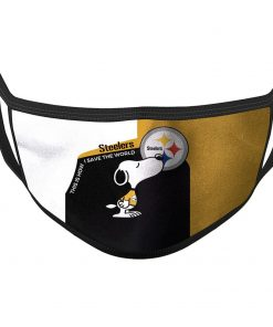 Snoopy Steelers - This Is How I Save The World - Custom Graphic Printing Gift Ideas Face Mask Unisex Tshirt