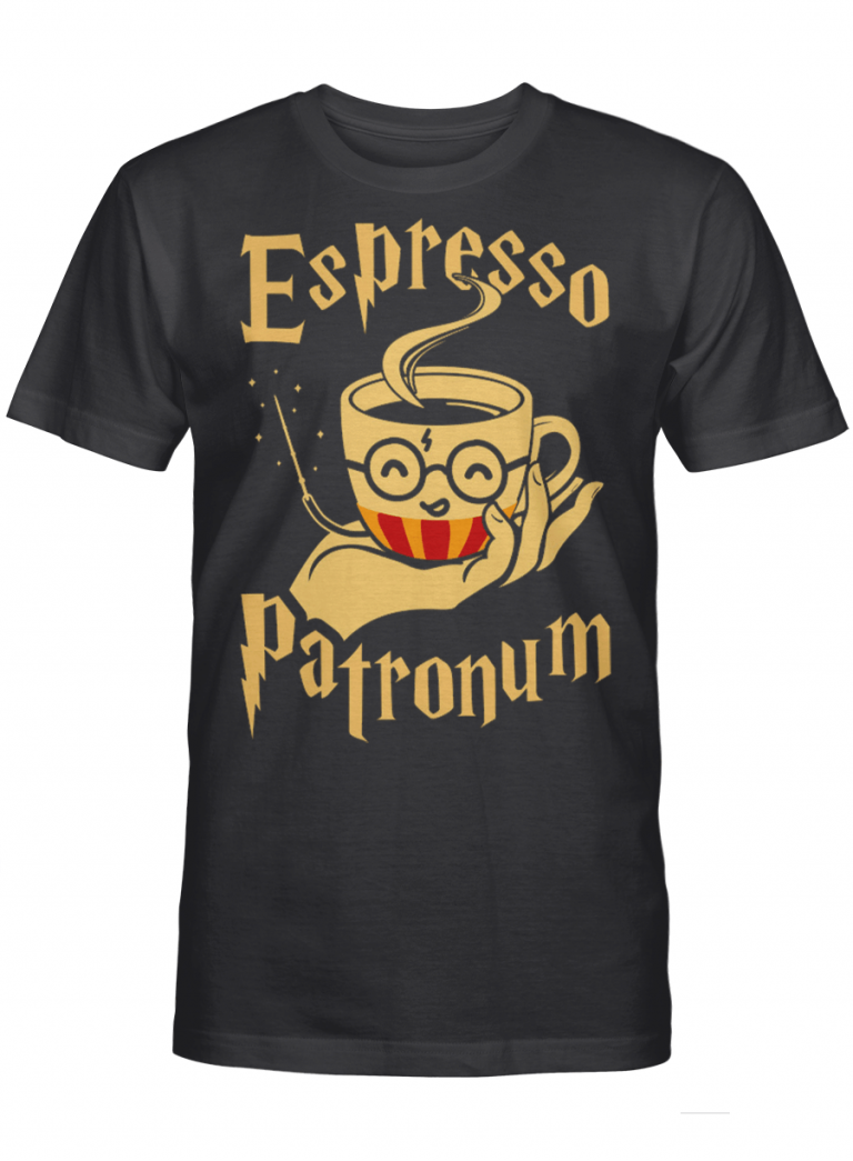 Espresso Cup Patronum Gift For Harry Potter Coffee Lover Graphic T-shirt Unisex Tshirt
