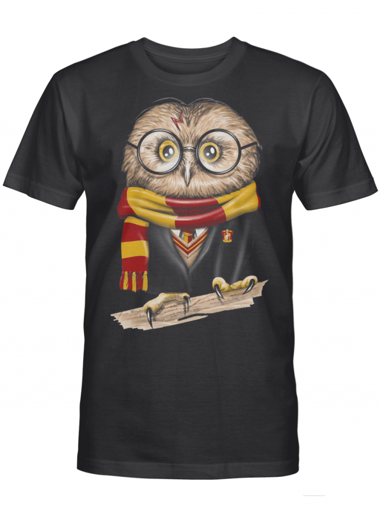 Gryffindor Harry Potter Owl Graphic Funny Gift For Magical Movie Fan Graphic T-shirt Unisex Tshirt