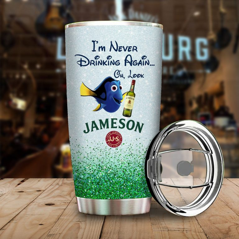 Dory Fish I'm never drinking again Oh look Jameson Funny Glitter Coffee Wine Mugs Gift Ideas Tumbler Cup Unisex Tshirt