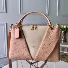 V Tote Mm Embossed Monogram Leather M44422 Pink 2019 Collection