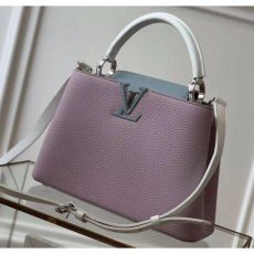 Taurillon Leather Capucines Bb/pm Top Handle Bag M56299 Lilac/blue Collection