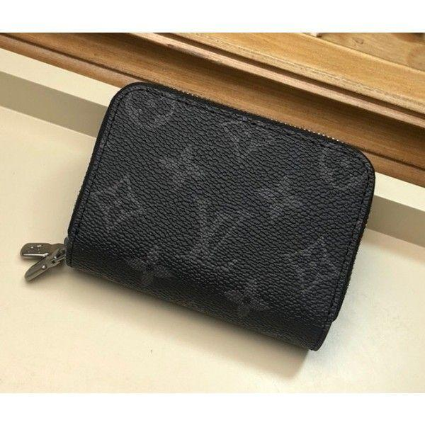 6 Key Holder/coin Purse In Monogram Eclipse Canvas M58106 Black