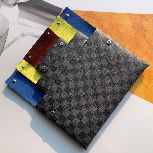 Alpha Triple Pouches In Damier Graphite Canvas N60255 2019 Collection
