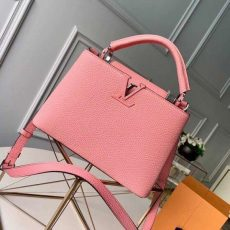 Taurillon Leather Capucines Bb/pm Top Handle Bag M94586 Pink 2020 Collection