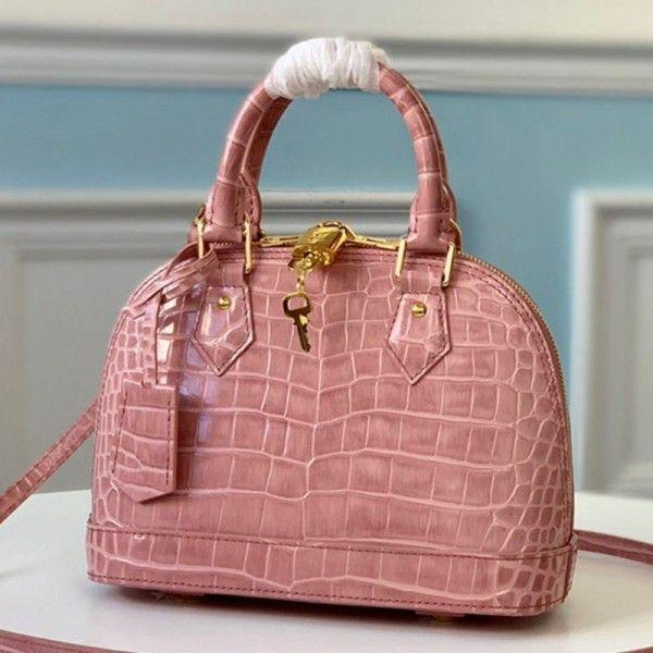 Alma Bb Top Handle Bag In Crocodile Leather N94271 Pink 2019 Collection