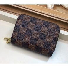 6 Key Holder/coin Purse In Damier Ebène Canvas M58106
