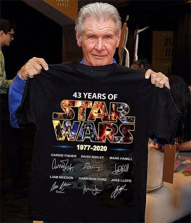 43 Years Of Star Wars 1977 2020 Cast Signed - Gift for Fans T-Shirt