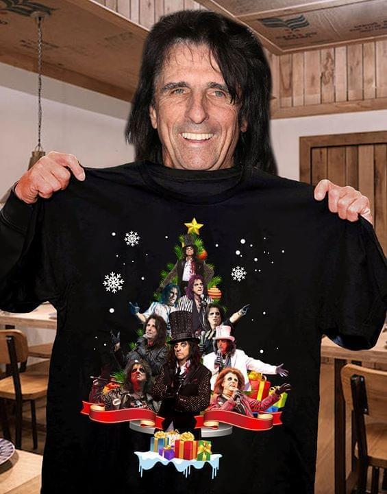 Alice Cooper Christmas Tree - Gift for Fans T-Shirt