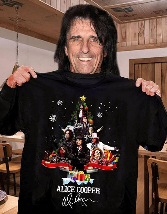 Alice Cooper Christmas Tree Xmas Signed Gift For Fan - Gift for Fans T-Shirt