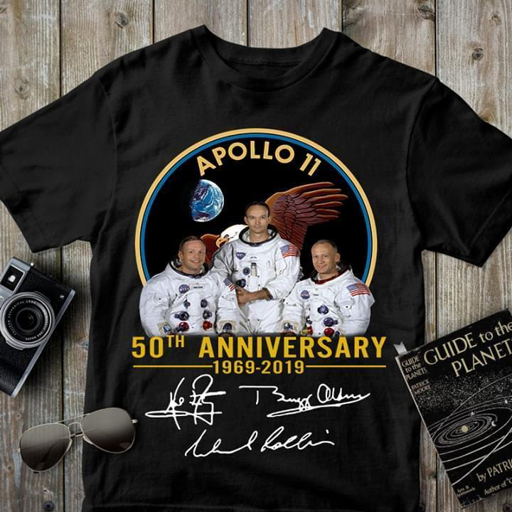 Apollo 11 50Th Anniversary Signed - Gift for Fans T-Shirt