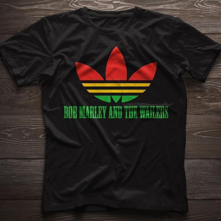 Bob Marley And The Wailers Adi Das Weed Color - Gift for Fans T-Shirt