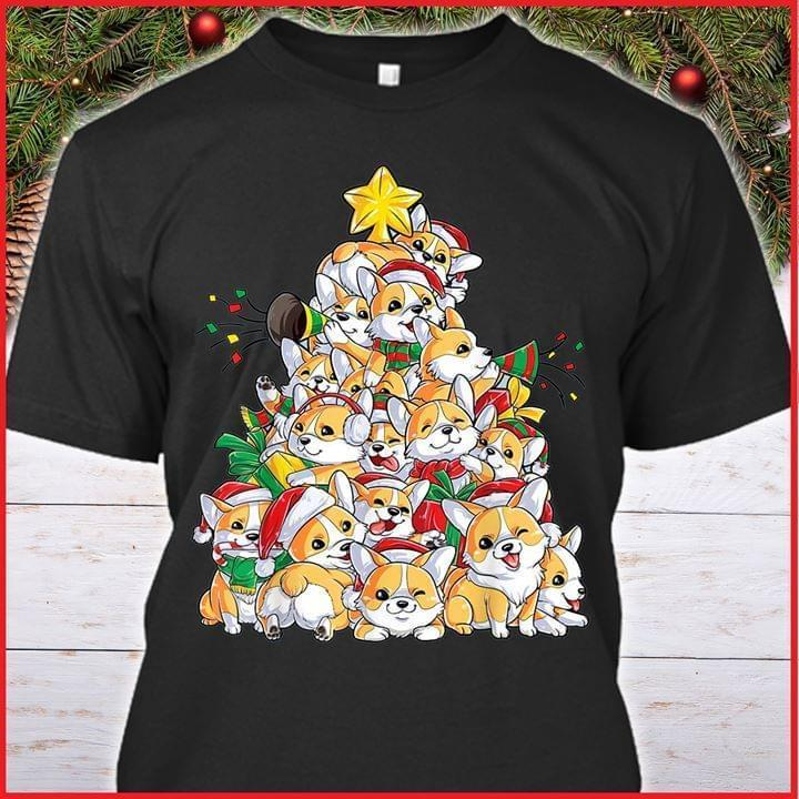 Corgi Christmas Tree Dog Lover - Gift for Fans T-Shirt