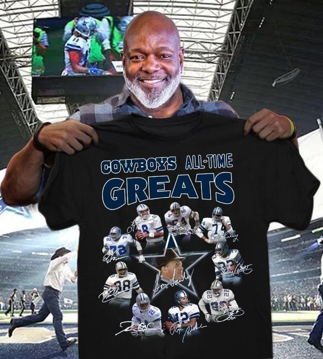 Dallas Cowboys All Time Greats Signed - Gift for Fans T-Shirt