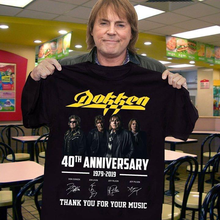 Dokken 40Th Anniversary Signed Thank You For Memories - Gift for Fans T-Shirt