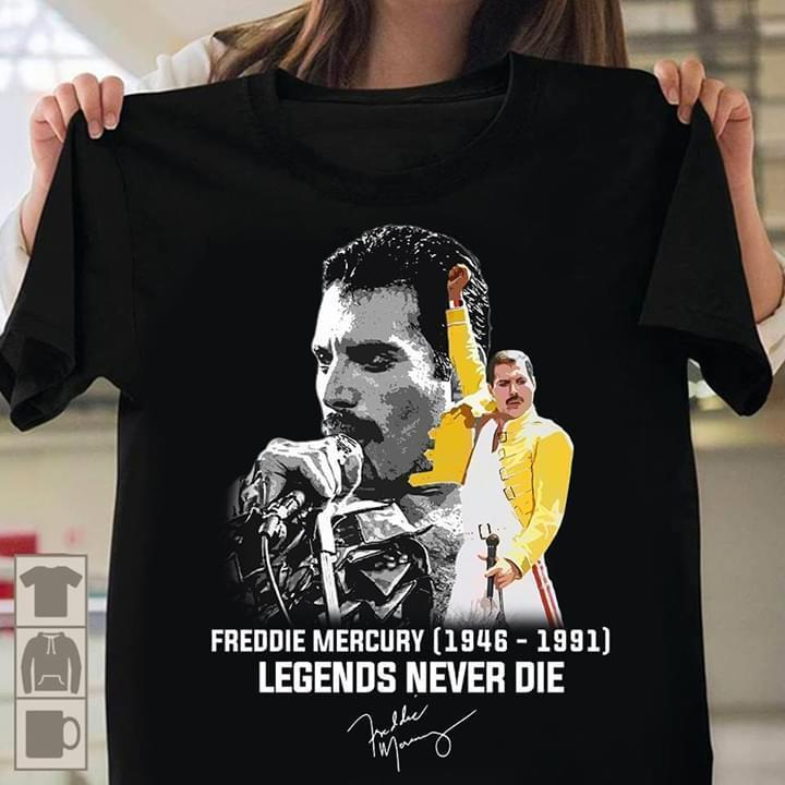 Freddie Mercury 1946 1991 Legends Never Die Signed - Gift for Fans T-Shirt
