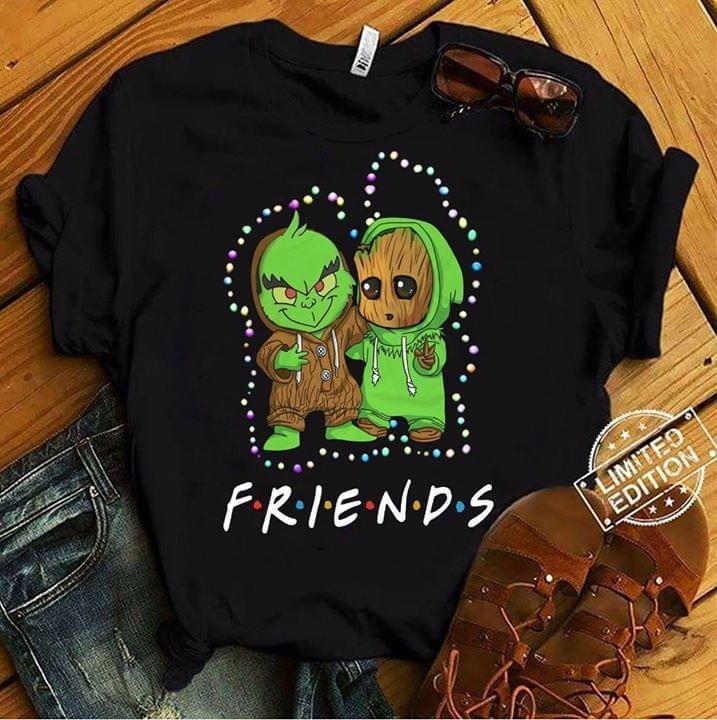Friends Grinch And Groot Crossover - Gift for Fans T-Shirt
