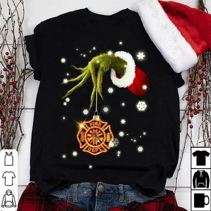 Grinch Steal Firefighter Logo Christmas - Gift for Fans T-Shirt
