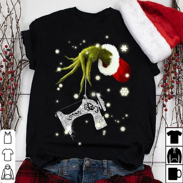 Grinch Steal Sewing Machine Christmas - Gift for Fans T-Shirt