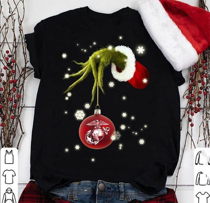 Grinch Steal Us Marines Christmas - Gift for Fans T-Shirt