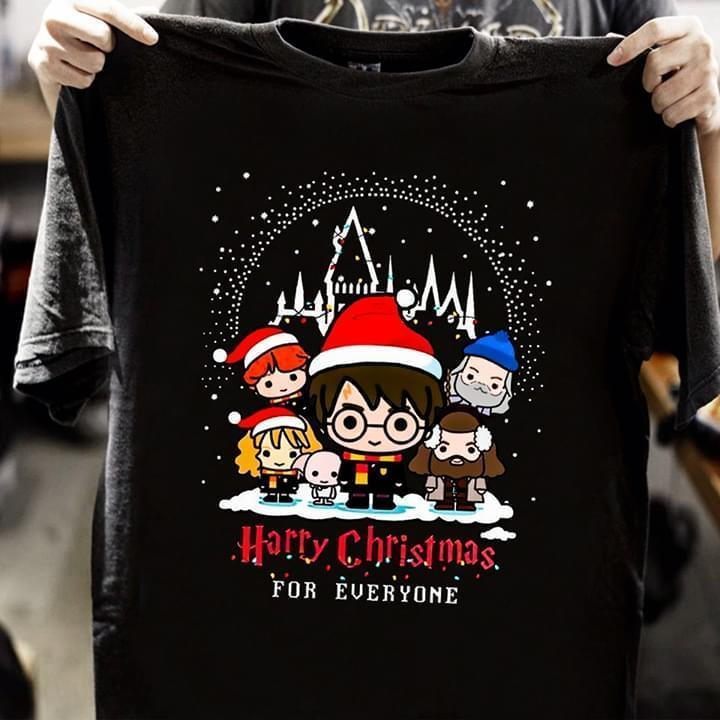 Harry Christmas For Everyone Harry Potter With Christmas Hat Costume - Gift for Fans T-Shirt