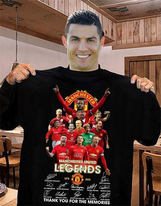 Manchester United Legend Thank You For Memories Signed T Shirt - Custom Graphic Tee - Christmas Gift Idea T-Shirt