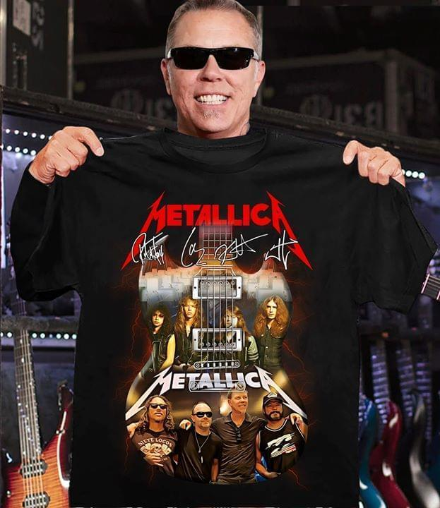 Metallica Image Guitar Signed - Gift for Fans T-Shirt