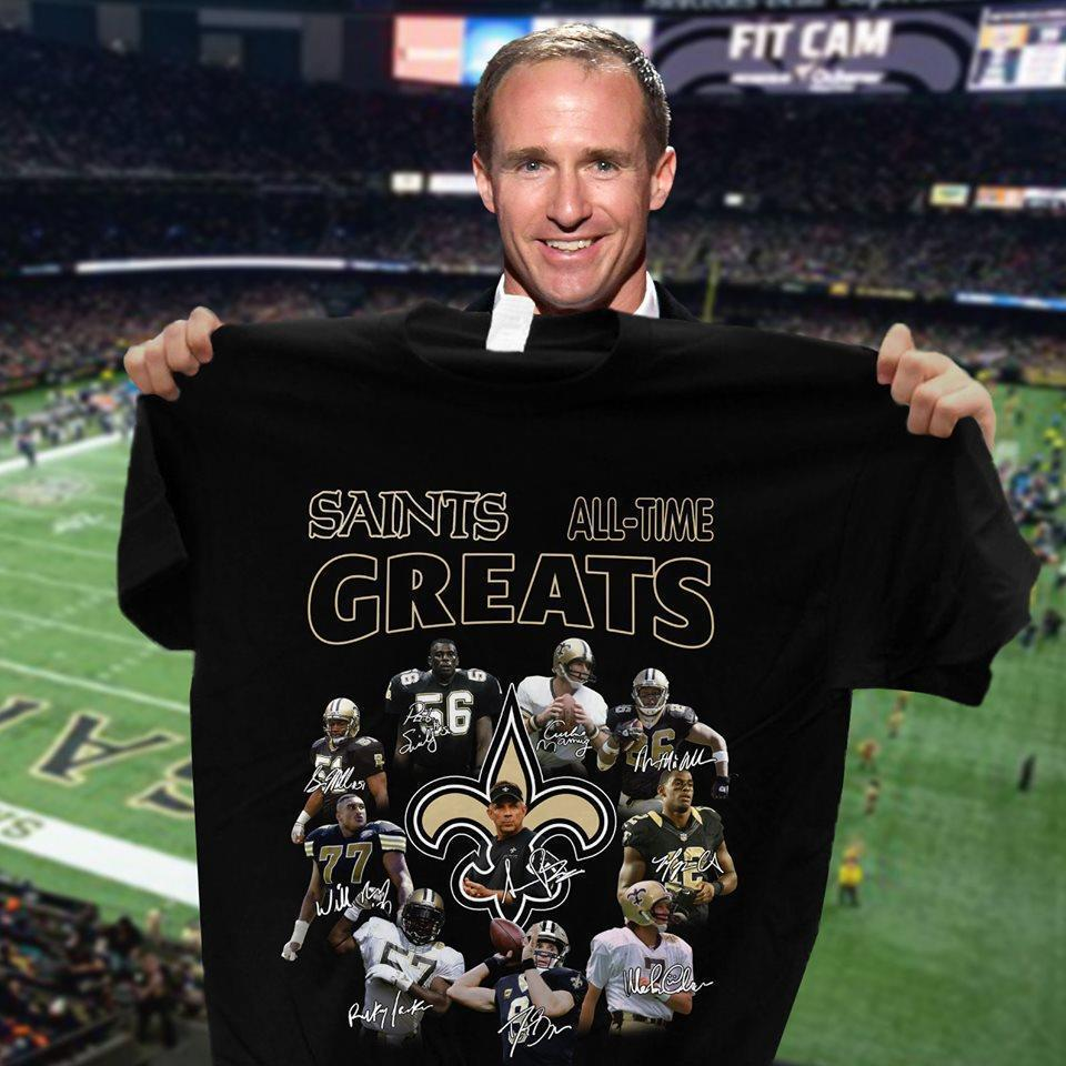 New Orleans Saints All Time Greats Coach And Players Signatures - Gift for Fans T-Shirt