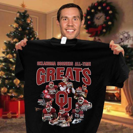 Oklahoma Sooners All Time Greats Coach And Players Signatures - Gift for Fans T-Shirt