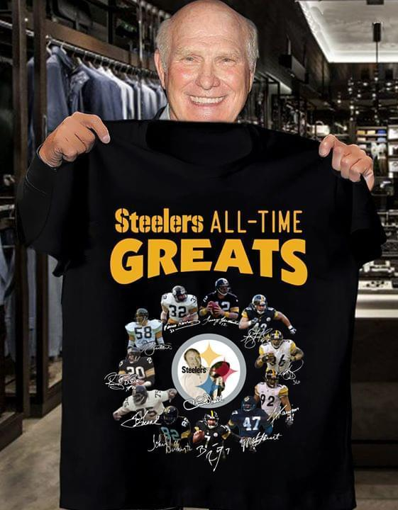Pittsburgh Steelers All Time Greats Signed - Gift for Fans T-Shirt