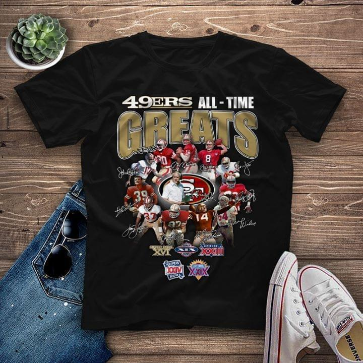 San Francisco 49Ers All Time Greats Coach And Players Signatures - Gift for Fans T-Shirt