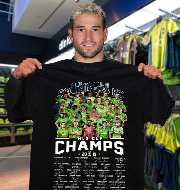 Seatle Sounders Fc Mls Cup Champs 2019 Player Signed - Gift for Fans T-Shirt