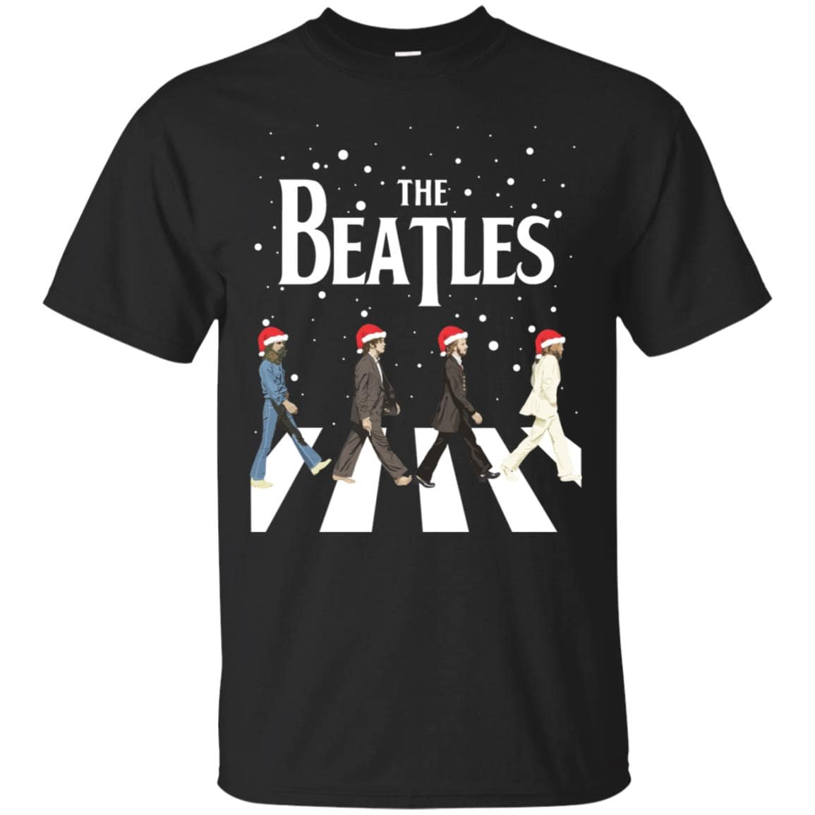 The Beatles Christmas T Shirt Ls Sweater Graphic Tee Gift T-Shirt