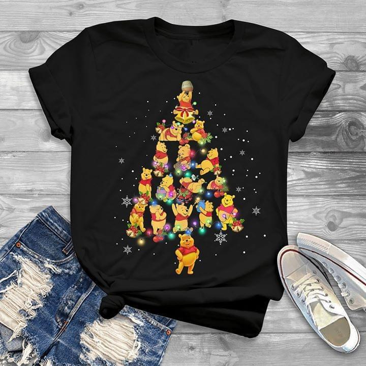 Winnie The Pooh Christmas Tree Christmas Gift For Fan - Gift for Fans T-Shirt