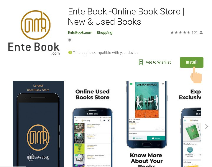Ente Book App build with Appmaker