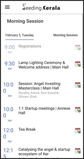 Schedule management for event apps