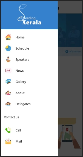Navigation bar for conference app