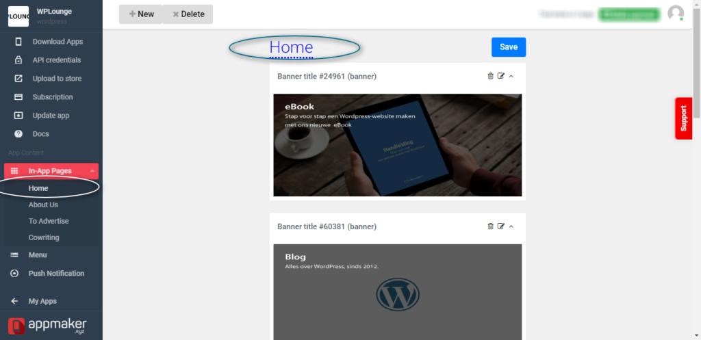 WordPress app builder