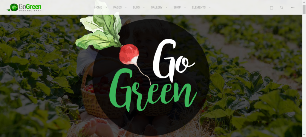 GoGreen Grocery template for WordPress