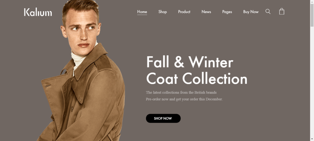 Kalium theme for WordPress WooCommerce