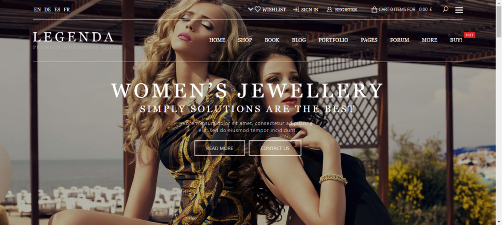 Legendra WooCommerce theme for fashion website
