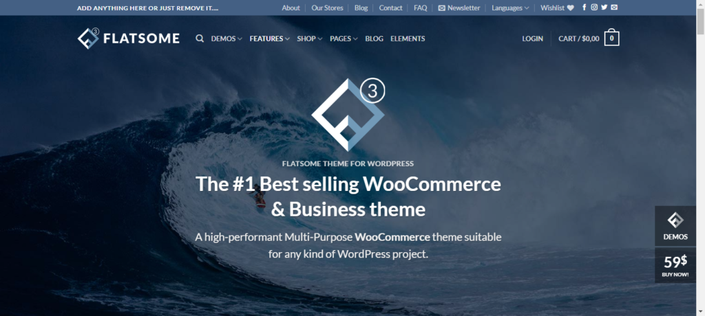 Flatsome best WooCommerce theme for you