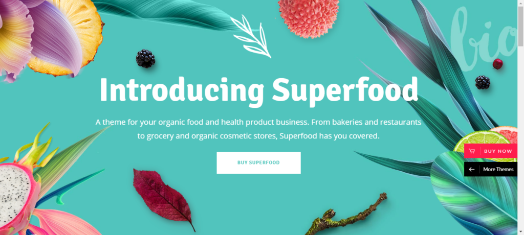 Superfood theme for WordPress Grocery