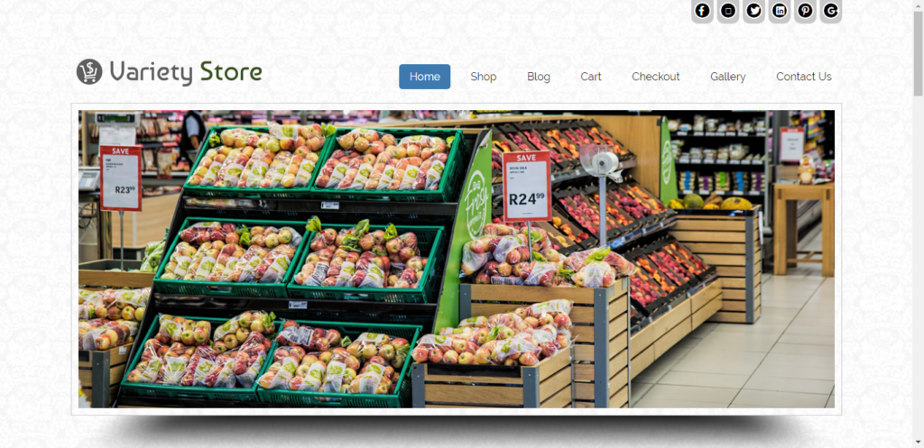 variety store Grocery WordPress Theme
