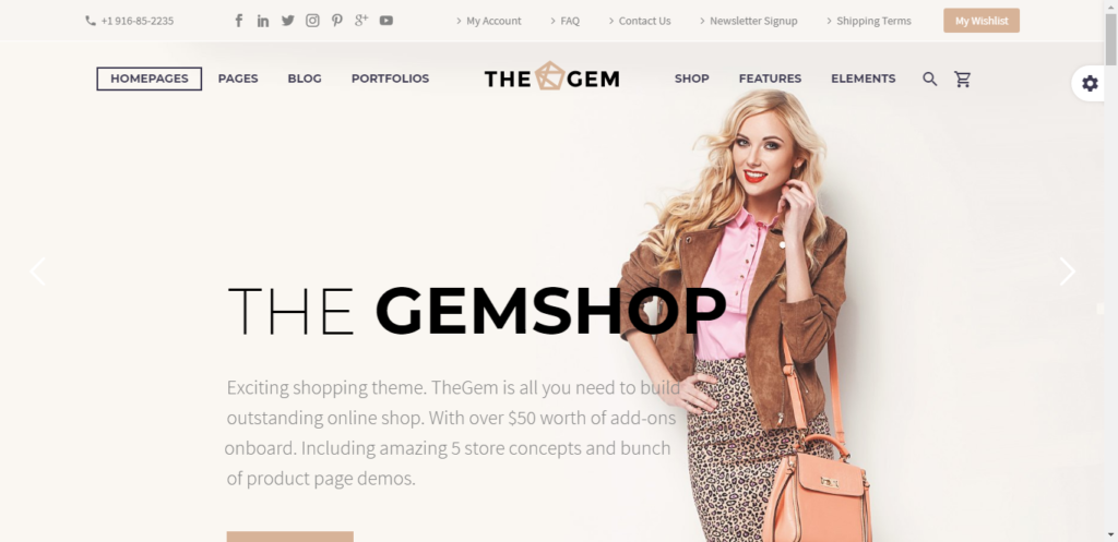 The gem WooCommerce theme