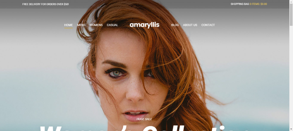 Amaryills, WooCommerce themes under $0